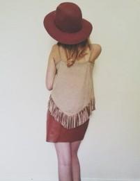 Pocahontas meets Bohemian ~ Trilby Primark £8 ~Skirt £18 Missguided~ Top Primark £10