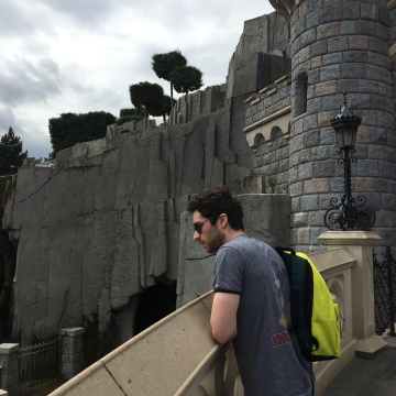 Alex at Sleeping Beauty's castle