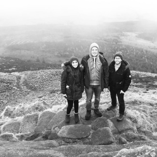 At the top of Mither Tap