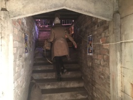 Toni at the Entrance of the Air Raid Shelter
