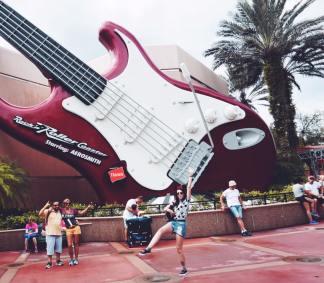 Aerosmith's Rockin Roller coaster